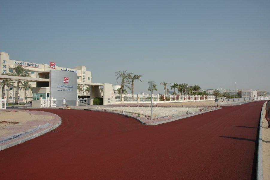 Qatar rood asfalt (Doha)